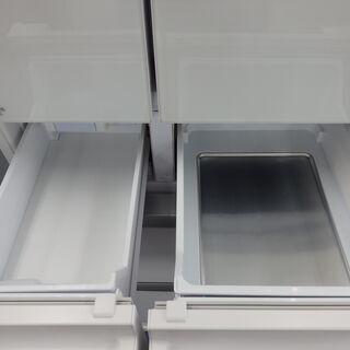 【配送設置無料エリア拡大】☆美品☆ 三菱 ノンフロン冷凍冷蔵庫 MR-WX48Z-W1 2016年製 470L - 家電