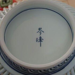 お皿 食器 有田焼 琴峰 透かし 柿