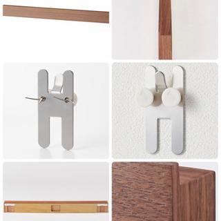 【2個セット】壁に付けられる家具・長押・幅88cm・ウォー…