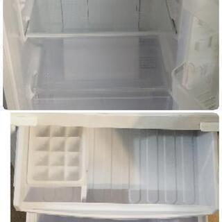 【ちょっと大きめ】SHARP 2ドア冷凍冷蔵庫 167L 【2014年】SJ-C17Y-W つけかえどっちもドア 耐熱トップテーブル   - 家電