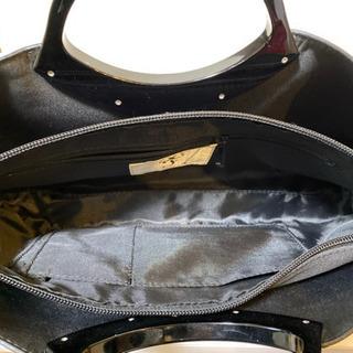 エナメル ハンドバッグ ブラック 2点 - 靴/バッグ