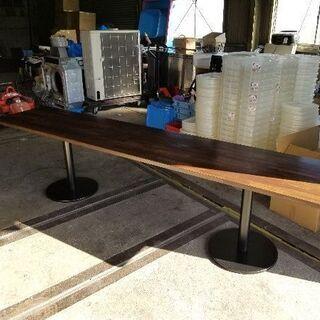ビックリ!3mのロングロングテーブル ダイニングテーブル 事務所会議用