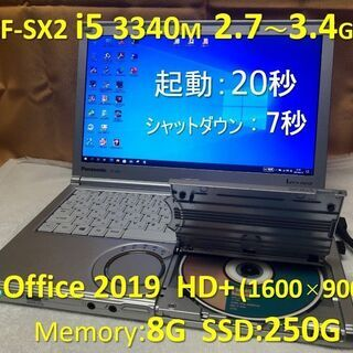 Let's note CF-SX2 i5 2.7~3.4G…