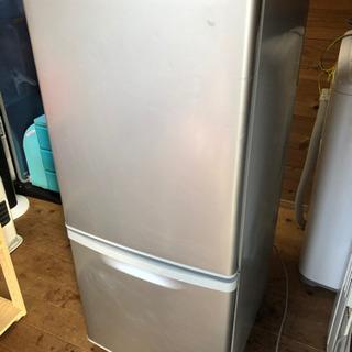 【中古】Panasonic 2ドア冷凍冷蔵庫 138L