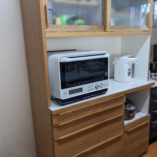 【ネット決済】キッチンボード 食器棚 120cm ダイニングボー...