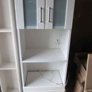 ニトリ 食器棚 キッチンボード RIPE 60RB WH