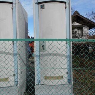 【取引成立】仮設トイレ 洋式タイプ ペダル式軽水洗(ポンプ式簡易水洗)