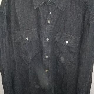 デニムシャツ。サイズL。未着用。