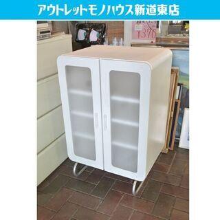 ♢キャビネット ホワイト 55×41×83cm 脚付き キッチン...