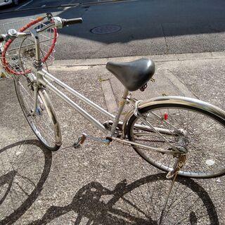 <値下げ>ブリジストン 26インチ・3段変速自転車 カゴ・ワイヤーロック+ラウンドロック付きの画像