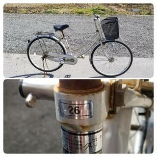 自転車     26インチ  ライト付き  シティ車   ママチャリ  - 彦根市
