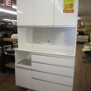 R052 高級 PAMOUNA キッチンボード、食器棚、幅120cm 美品の画像