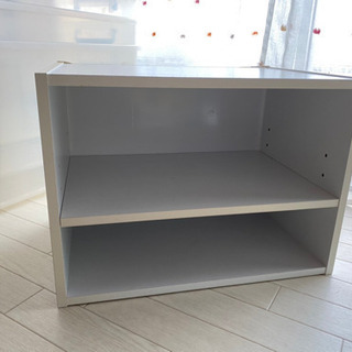 2段収納カラーボックス 白