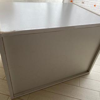 2段収納カラーボックス 白 - 家具