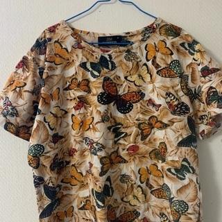 値下げ ジム トンプソンの、蝶々の柄のTシャツ Mサイズ