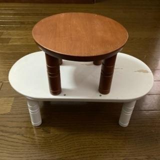 ペット用木製テーブル2点セット