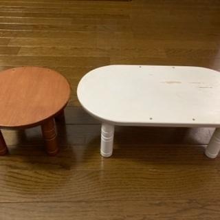 ペット用木製テーブル2点セット - 目黒区