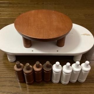 ペット用木製テーブル2点セット - 家具