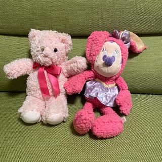 ワケあり 無料 ピンク ぬいぐるみ 2個セット 可愛い クマ ミ...