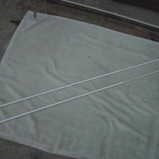 JM10116)伸縮式突っ張り棒 2本セット ホワイト 長…