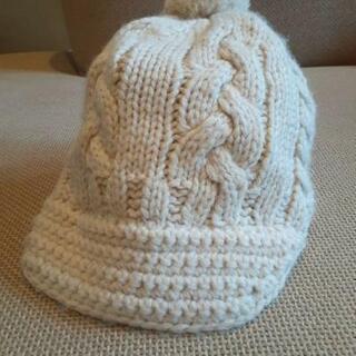 値下げ 美品【AcanB】 KIDS 編み込みニット帽子 Lサイズ