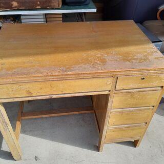 レトロな作業台 机 古民具 ビンテージ家具