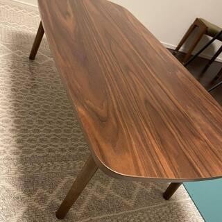 【ネット決済】折りたたみローテーブル 木製 ウォルナット