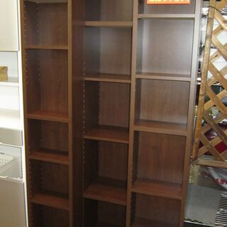 R200 左右 スライド式書棚、本棚、幅88cm 傷あり