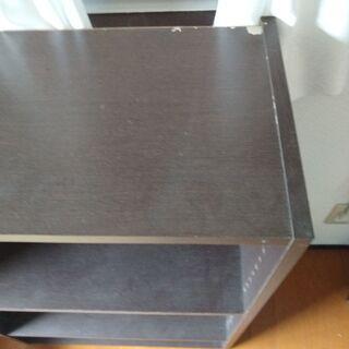 <無料>こげ茶・ダークブラウン カラーボックス・棚  奥行30cm 幅60cm 高さ88cm - 家具