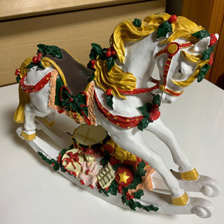 馬の置物(白)