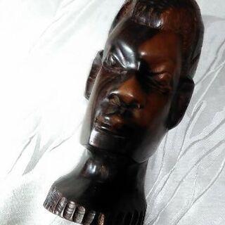 ☆USED☆ 男性頭像・アフリカ木彫り人形