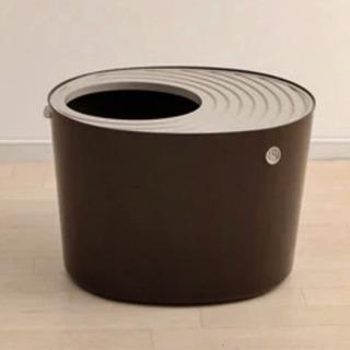 ✨ 上から猫トイレ システムタイプ * ブラウン 🐈 アイリスオ...