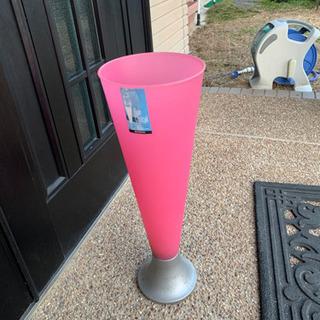 値下げだ!傘立て!おまけ付き!ピンク鮮やか!玄関華やぎます…