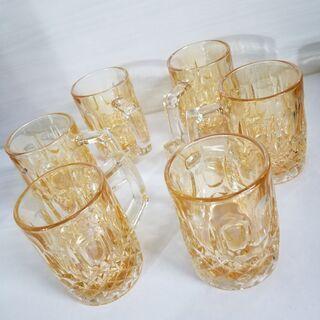 ビールグラス6個セット 新品 オーロラ加工