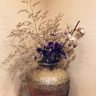 美品 陶器花瓶 剣山(ステン針) 特大角