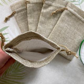 10枚セット 麻袋 アクセサリーポーチ お菓子袋