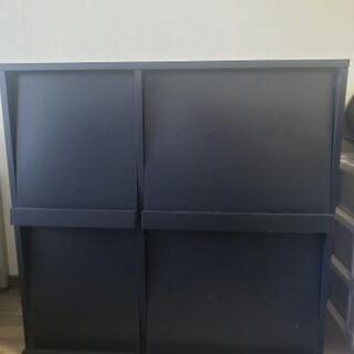 【中古】ディスプレイラック:ブラック ×2  カラーボックス