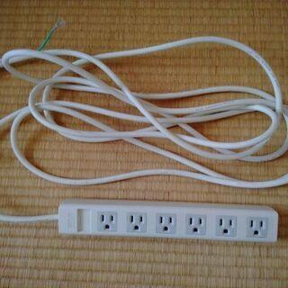 電源タップ 6口 5m (サンワワプライ)