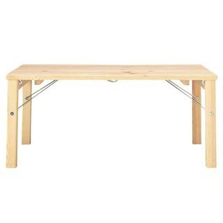 無印良品 パイン材ローテーブル 折りたたみ式 折りたたみテーブル...
