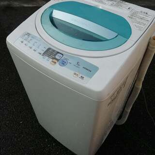 洗濯機、日立 5キロ