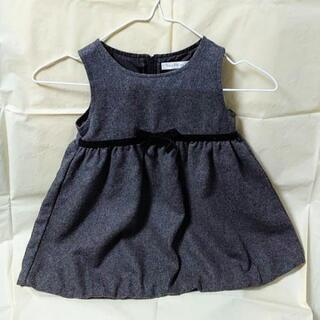✨中古品✨ ベビー・子供服 グレーのワンピース (90)