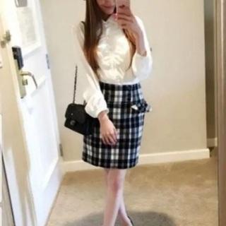 エミリアウィズ♡チェックフリルスカート♡ブラック