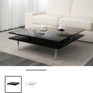 黒ガラスローテーブル 95.95正方形
