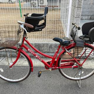 チャイルドシート付き 自転車 シティサイクル あさひ 子供…