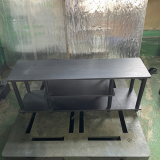 kj0221-10 テレビ台 黒 二段