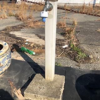 立水栓 中古 お庭 手洗い ガーデニング 土台コンクリート付き