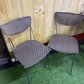 アイアンの椅子二つセット