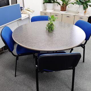 ⭐⭐ 値下げ❕❕ ミーティング丸テーブル・椅子4客セット ⭐⭐