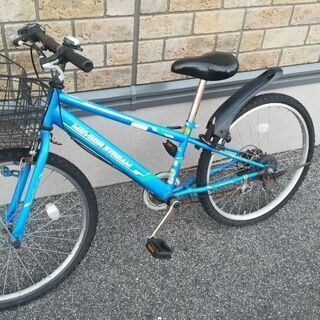 【取引中】ジュニア用自転車 青(24インチ)