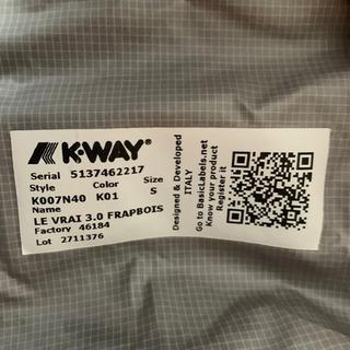 【美品】k・way マウンテンパーカー Sサイズ - 服/ファッション